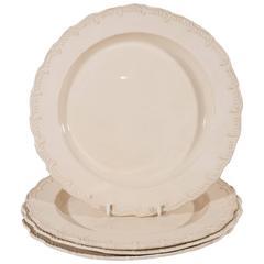 Dozen Antique Creamware Dishes Feather Edge