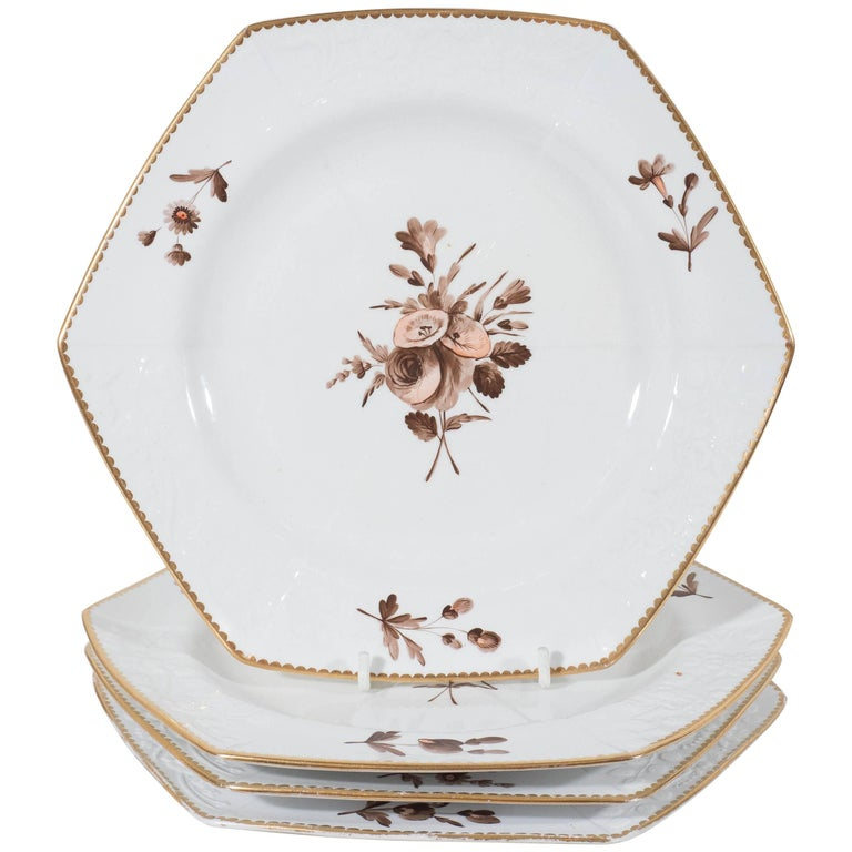 Spode Pink and Brown Toned Dishes For Sale