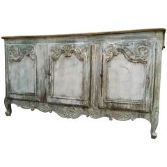 French Provencal 19th Century Painted Enfilade Buffet
