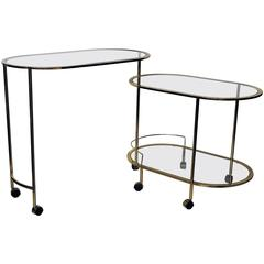 Mid-Century Modern Bar Cart or Cocktail Table