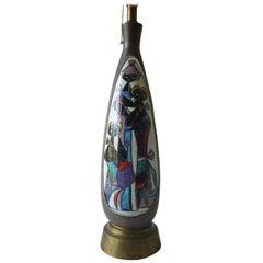 Marcello Fantoni Italian Design Glazed Ceramic Figural Lamp