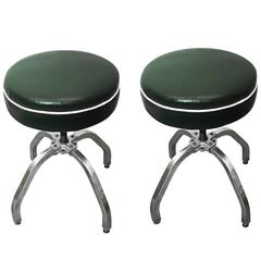 Pair of Rare Buty-Crafters Salon Stools, circa 1940s