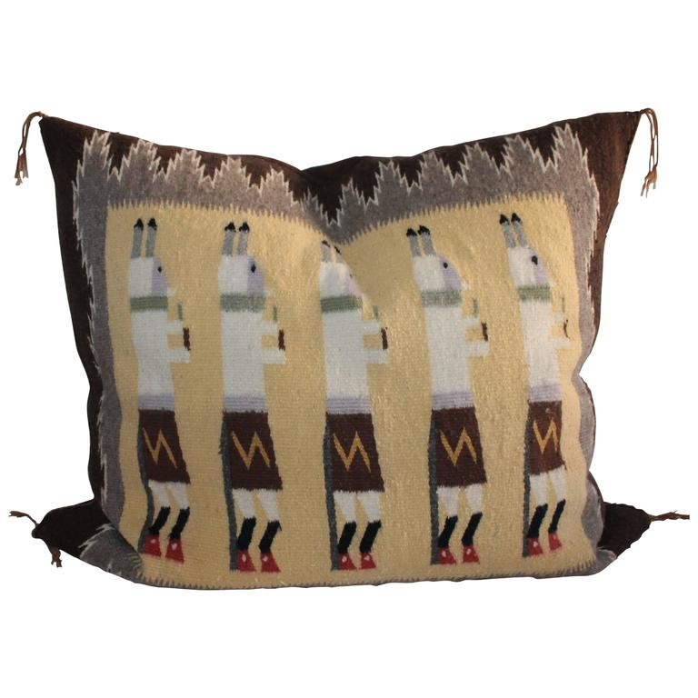 Yea Navajo Indian Weaving Pillow