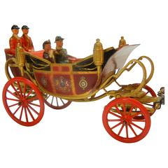 Elizabeth II in State Landau, Team of Six Windsor Greys, Britains Ltd. Toy, 1955