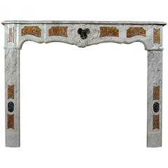 18th Century French Provençal Carrara Marble Fireplace