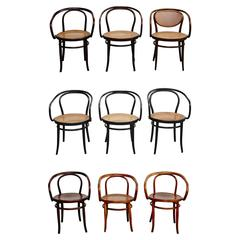 Set of Nine Thonet Armchairs by Auguste Thonet for Thonet