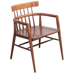 """Stained Solid Maple """"Planner Group"""" Paul McCobb Armchair for Winchendon"""