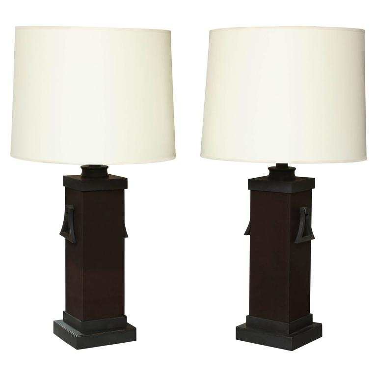 Pair of Mont Lamps For Sale
