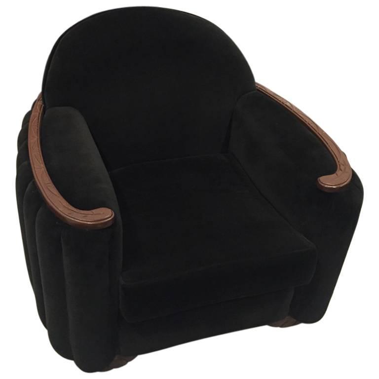 American Art Deco Sofa and Club Chair