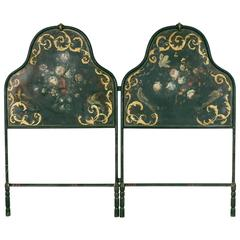Hand-Painted and Gilt Napoleon III Period Headboard for Queen or King Bed