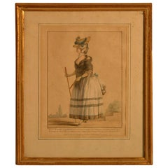 18th Century Framed Fashion Engraving