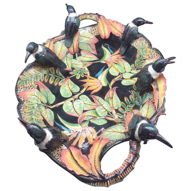 Bird Bowl, Ceramic Sculpture by Ardmore from South Africa