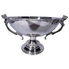 Beautiful Art Nouveau Silver Centerpiece Bowl with Women's Heads