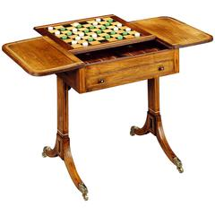 Anglo-Indian Padouk Games Table