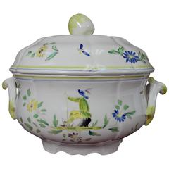 Longchamp China Moustiers Pattern Tureen and Lid