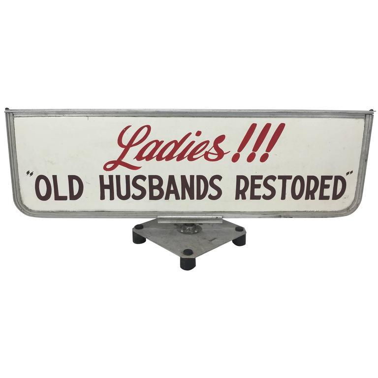 """Old Husbands Restored"" Trade/Store Display Sign"