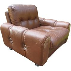 Danish Modern Leather Chair