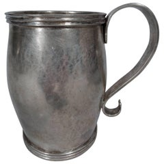 Antique South American Silver Mug with Scroll Handle