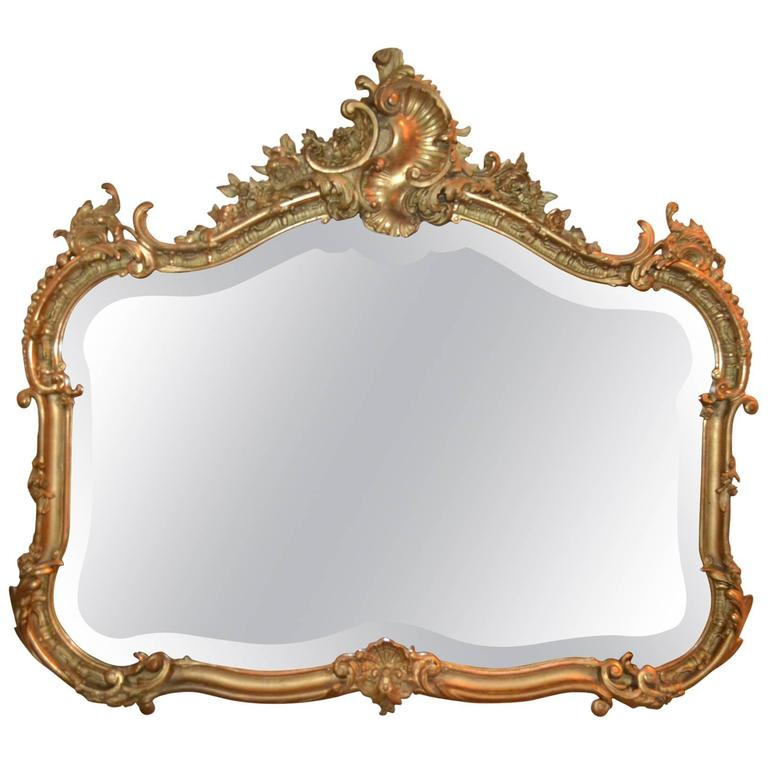 0d75205f7 Antique French Gold Leaf Beveled Mirror, circa 1855-1865 For Sale at ...