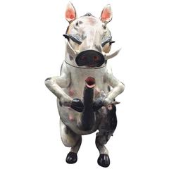 Shemale Warthog Teapot Ceramic by Ardmore from South Africa