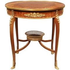 Superb Late 19th Century Gilt Bronze-Mounted Marquetry Lamp Table