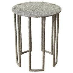 Hand Made Side Table of Crushed Pyrite of Mexico, by Samuel Amoia