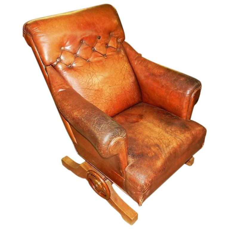 leather recliners antique antique leather recliner armchair for at 1stdibs 3700