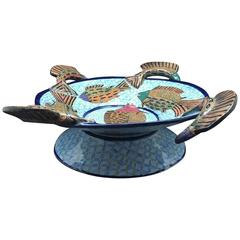 Fish Serving Bowl, Ceramic Sculpture by Ardmore from South Africa