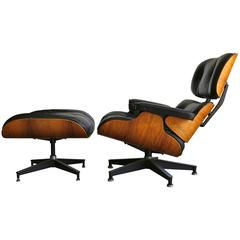 Eames Rosewood 670 Lounge Chair and 671 Ottoman
