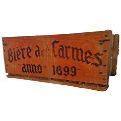Orange Vintage Belgian Wooden Beer Crates
