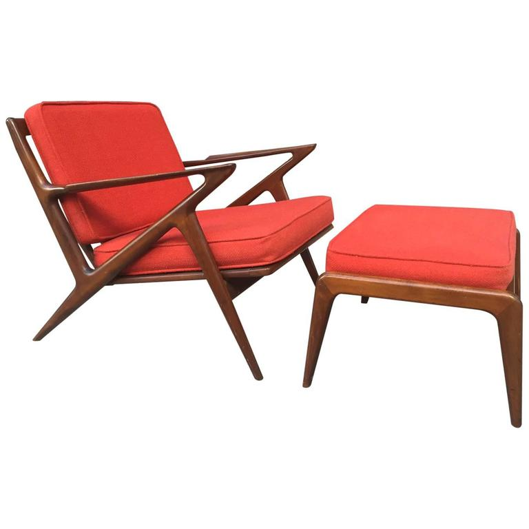Poul Jensen Z Lounge Chair & Ottoman for Selig