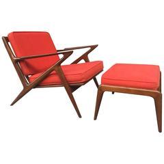 Poul Jensen Z Lounge Chair U0026 Ottoman For Selig