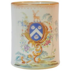 Rococo Chinese Export St. James Armorial Tankard