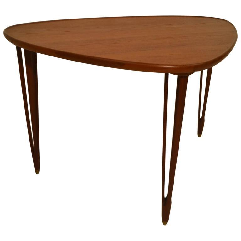 Danish Teak Coffee Table By B C Mobler, Denmark 1