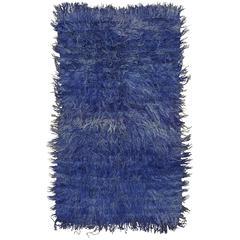 Angora Tulu Rug in Violet-Blue