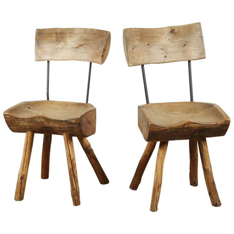 Rustic Log Chair For Sale