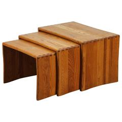 Natural Oak Nesting Side Tables