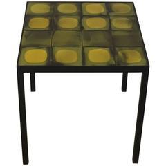 Gueridon Contemporary Design with Vintage Roger Capron Tiles