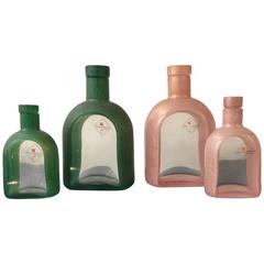 Elegant Italian Mid-Century Perfume Bottles Signed by Barovier & Toso