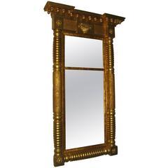 19th Century Giltwood American Federal Mirror