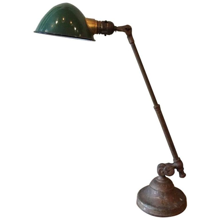 O.C. White Telescopic Arm Brass Task Lamp For Sale