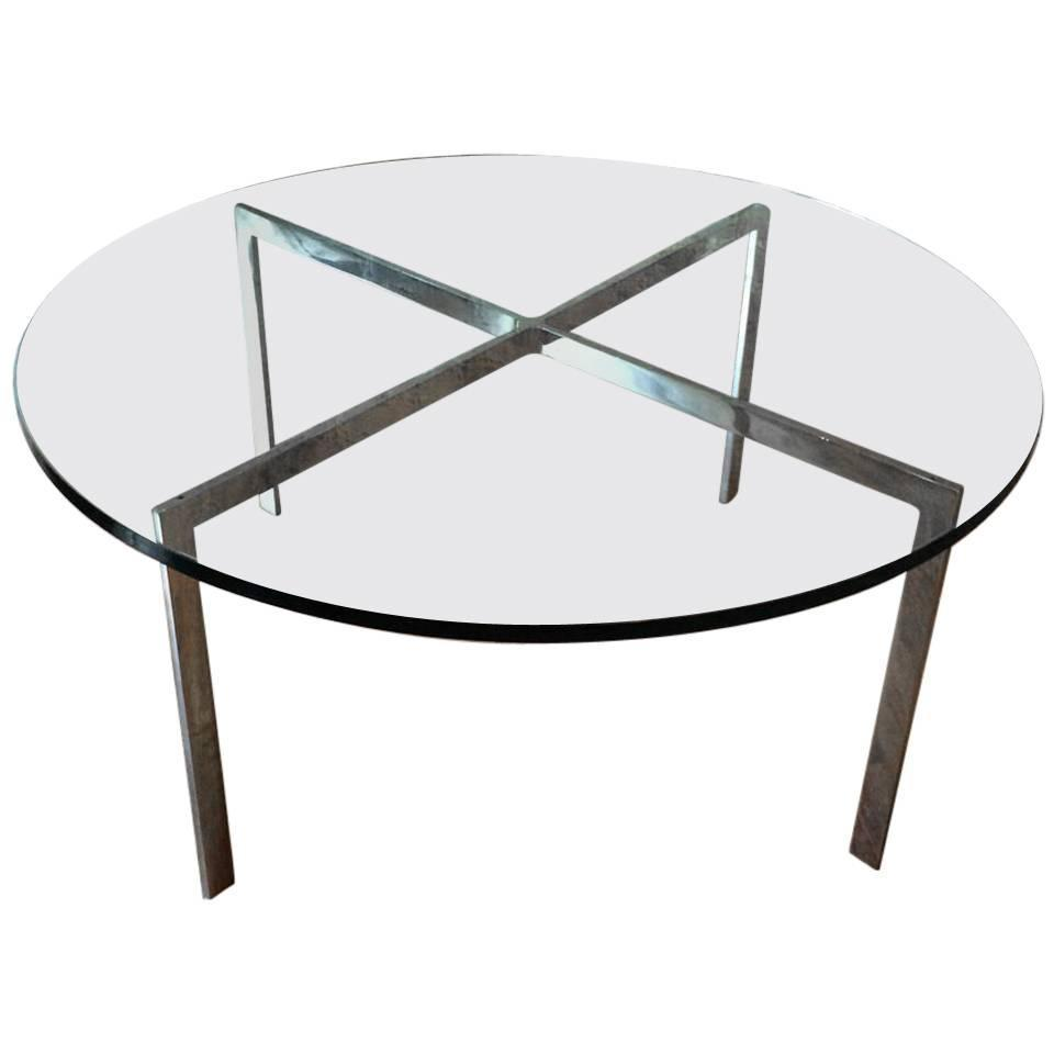 Chrome X Base Coffee Table With Green Glass Top For Sale At 1stdibs