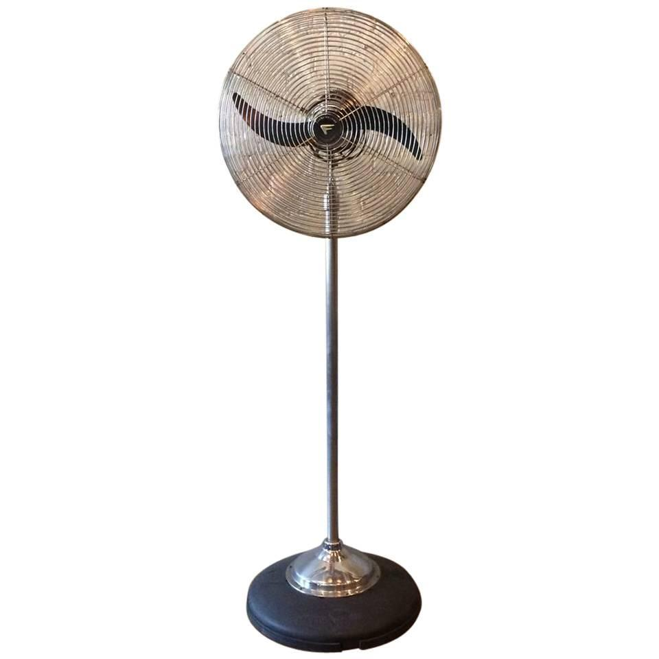 Large chrome fresh 39 nd aire industrial standing floor fan for 14 inch chrome floor standing fan