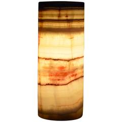 Round Base Onyx Table Lamp