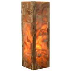 Square Base Onyx Lamp