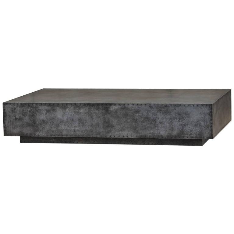 Low Zinc Coffee Table At 1stdibs