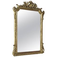 19th Century French Regence Napoleon III Period Gilded Mirror