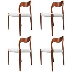 Teak Dining Chairs by Niels Otto Møller Model 71