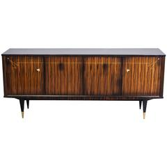 French Art Deco Buffet or Sideboard in Macassar Ebony / Sycamore Interior