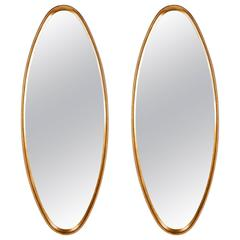 Mirrors, Pair, Gold Leaf, C 1950